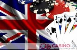 A straight flush with chips and the Union Jack